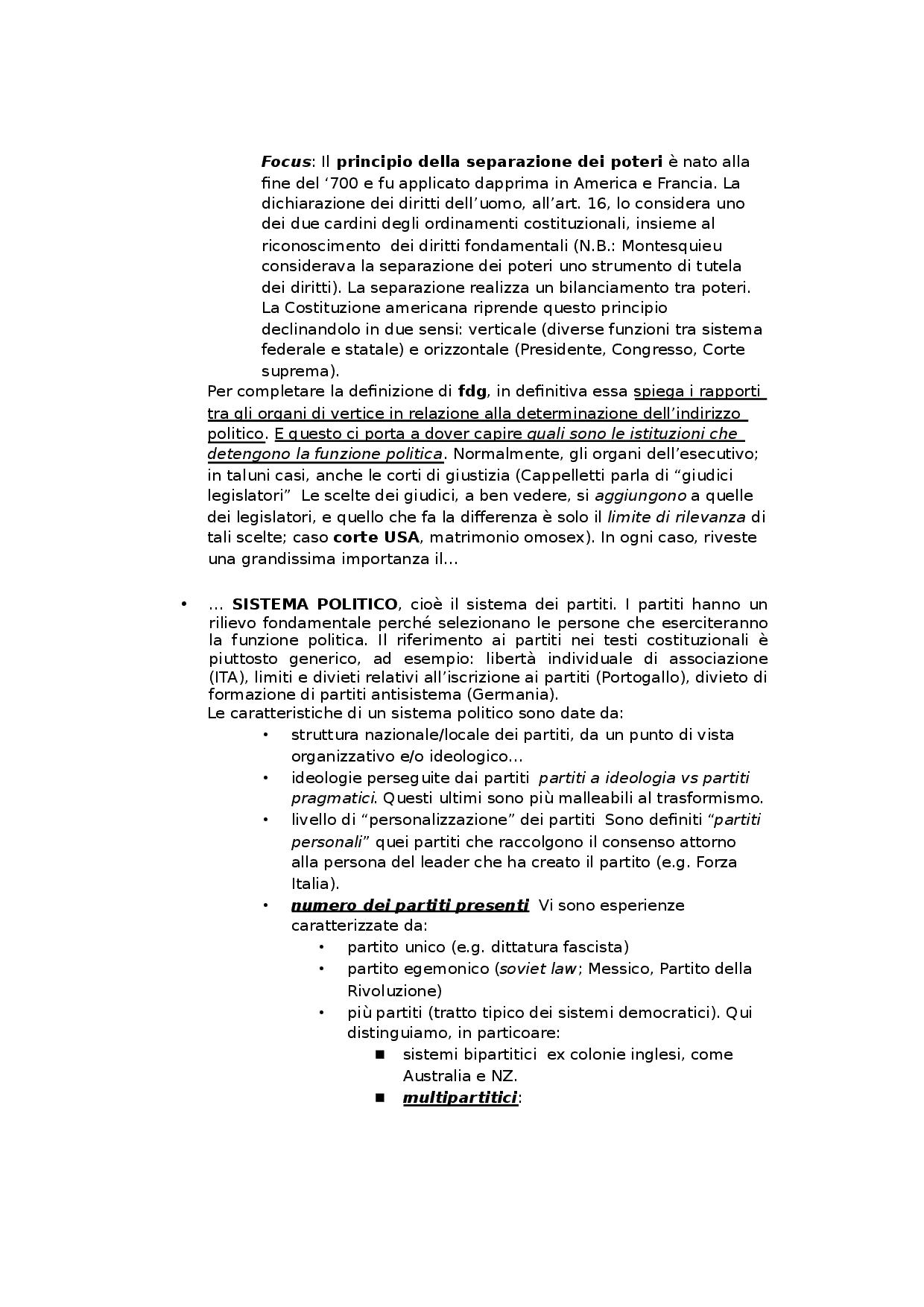 Teoria Generale Delle Forme Di Governo (Diritto Pubblico tout Docsity