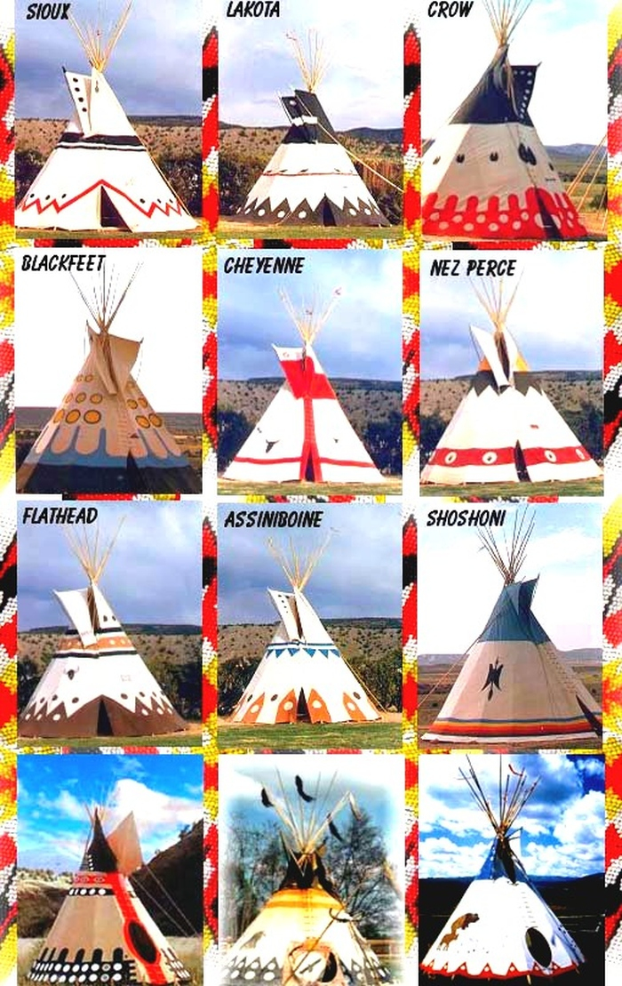 Tepee Designs Of Native American Tribes - Earthly Mission tout Tipi Dessin