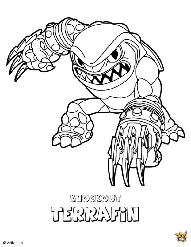 Terrafin Est Un Coloriage De Skylanders concernant Coloriage Skylanders À Imprimer