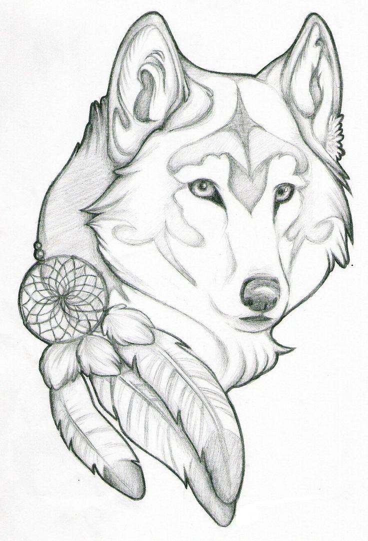 Tête De Loup   Dessin De Loup, Loup Dessin, Dessin tout Tete De Loup Dessin