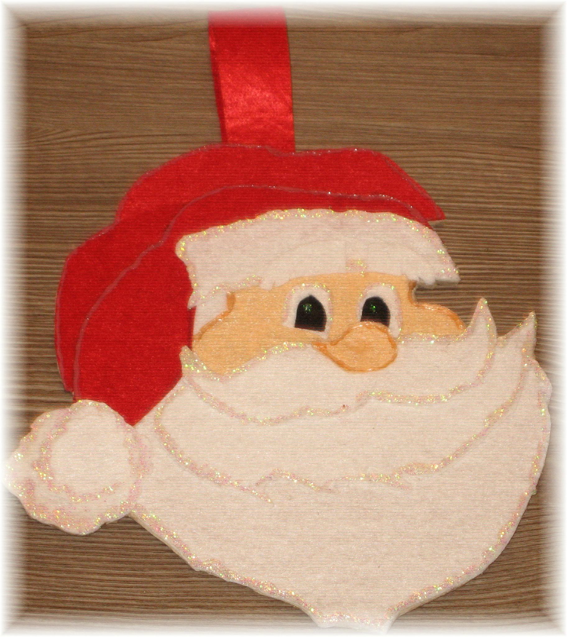 Tete De Papa Noel En Feutrine (Sissi) - La Féerie De Noël tout Tete De Pere Noel