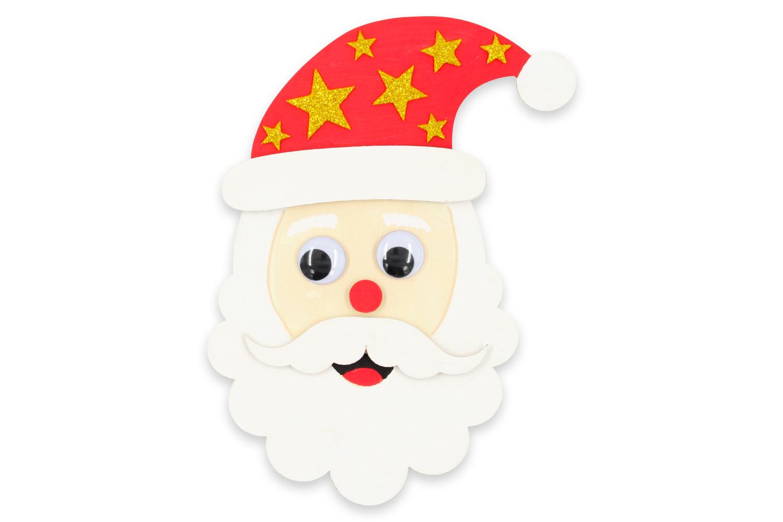 Tête De Père-Noël En Bois À Décorer - Noël - 10 Doigts intérieur Tete De Pere Noel