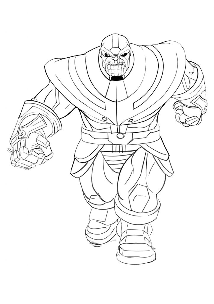 Thanos Coloring Pages - Best Coloring Pages For Kids destiné Coloriage Marvel