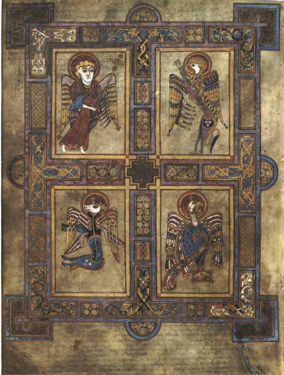The Book Of Kells: 9Th-Century Irish Monks And Ogham Script destiné Script In The Book Of Kells Book