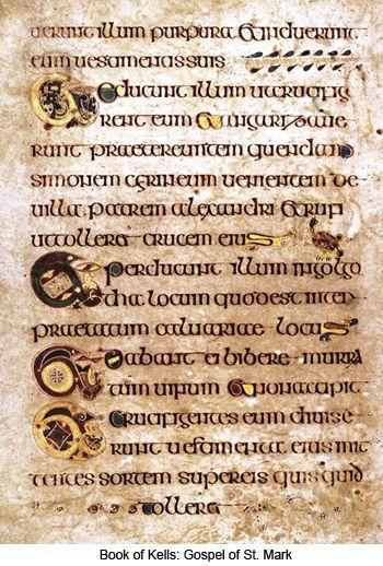 The Book Of Kells | Book Of Kells, Lettering, Types Of dedans Script In The Book Of Kells Book