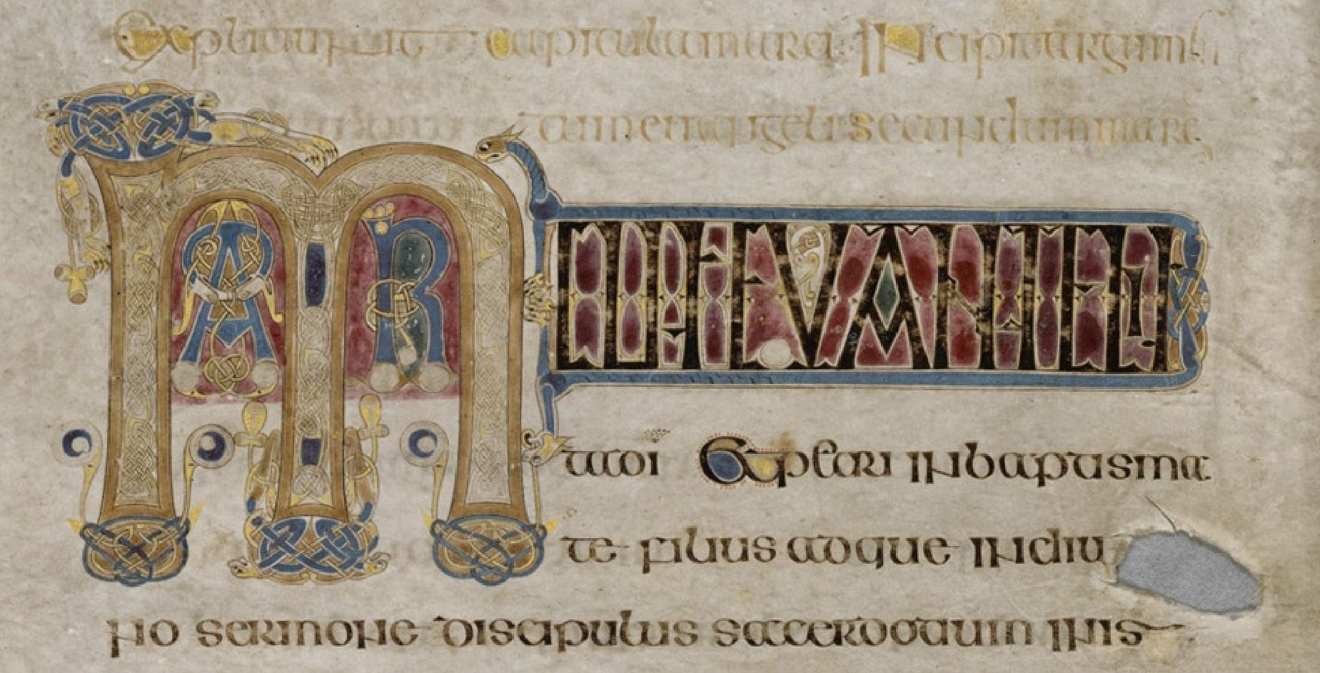 The-Book-Of-Kells-Excerpt-From-Folio-15 | Book Of Kells à Script In The Book Of Kells