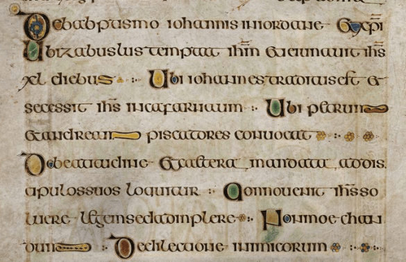 The Book Of Kells Is Written In Insular Majuscule Script intérieur Script In The Book Of Kells Book
