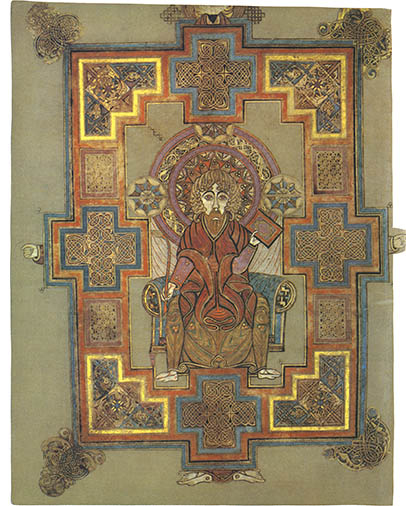 The Book Of Kells tout Script In The Book Of Kells Book