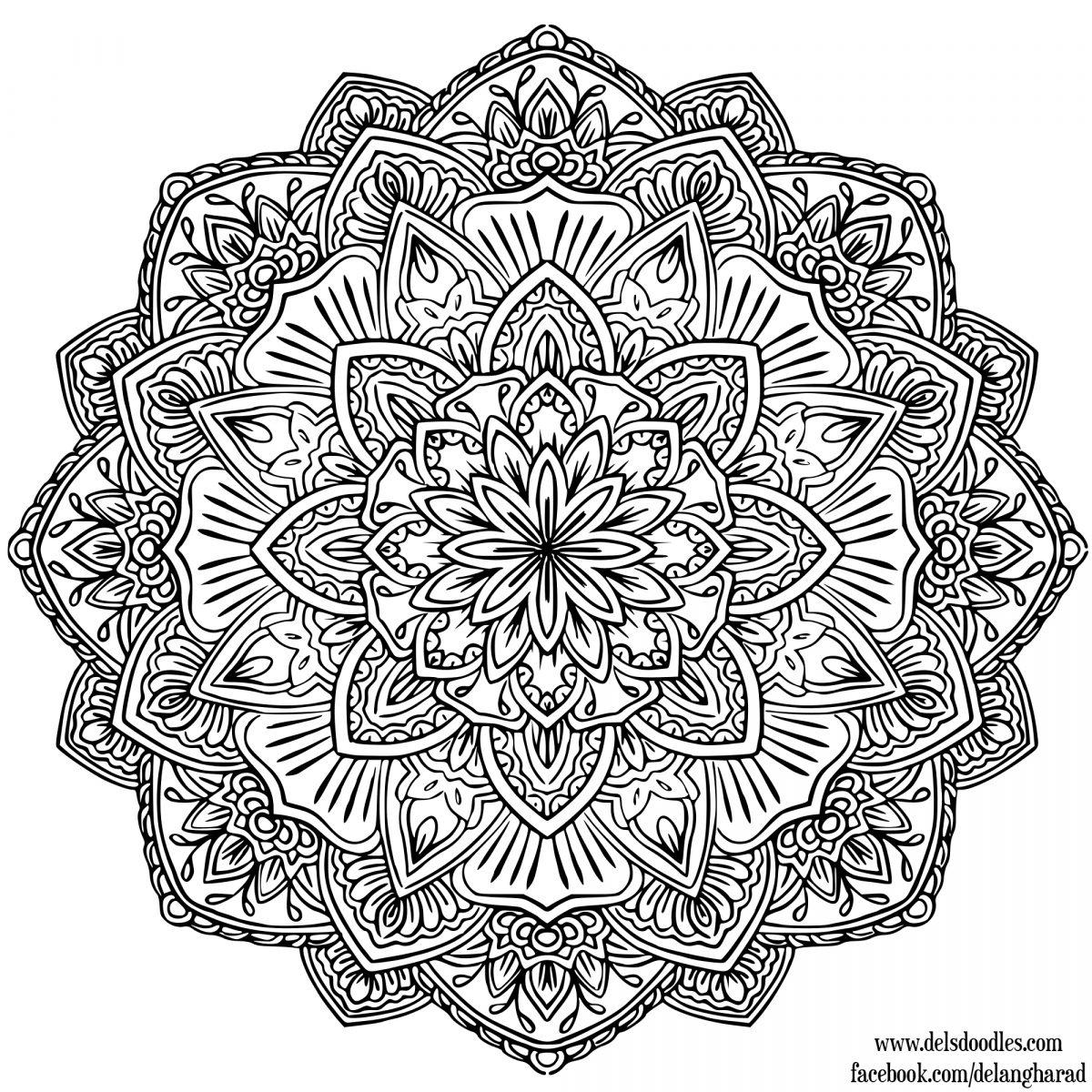 Mandala Facile A Dessiner - GreatestColoringBook.com