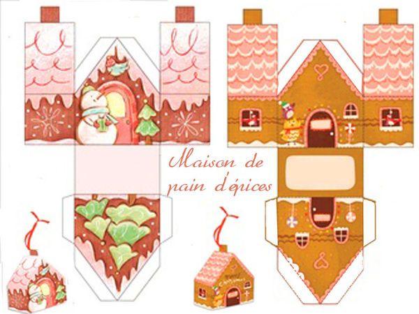 Theme Joyeux Gouter De Noel - 1 Et 2 Et 3 Doudous destiné Patron+Maison+Papier+A+Imprimer