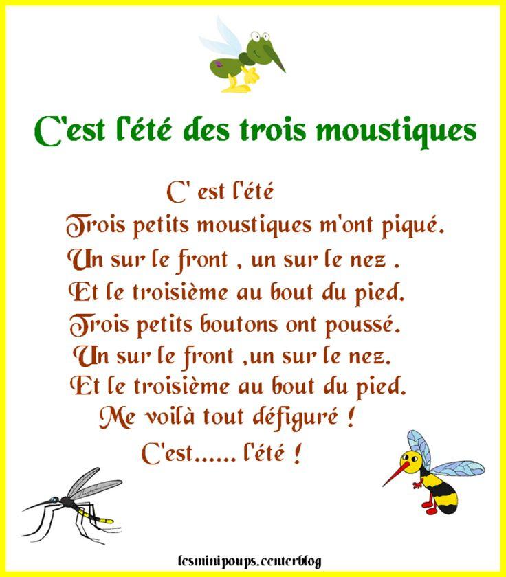 Thérèse Boudet : C'Est L'Été Des Trois Moustiques | Conte tout Vacances Poesie