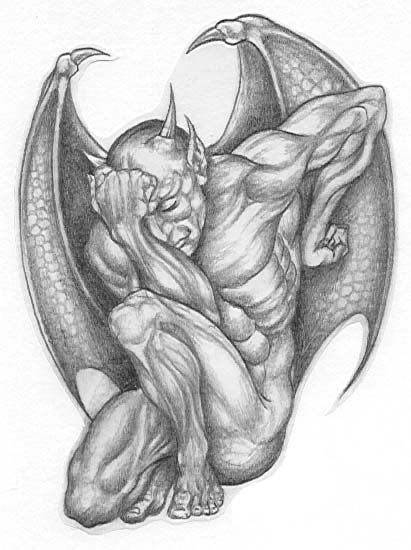 This Photo Was Uploaded By Himdevil. | Gargoyles encequiconcerne Dessin Gargouille