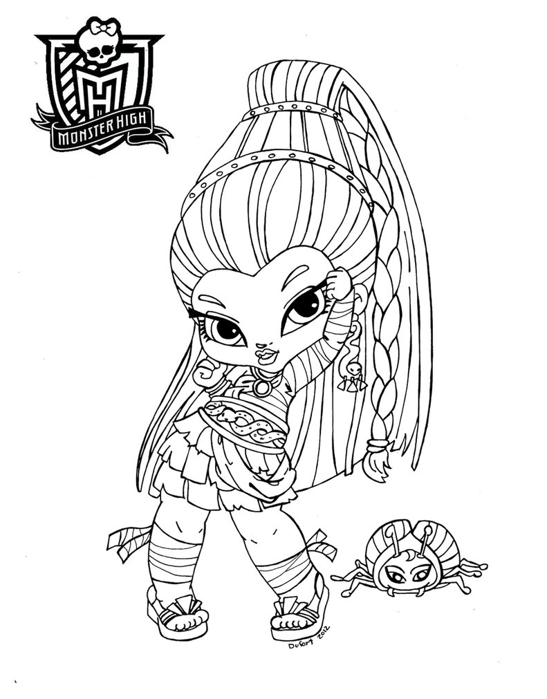 Todo Lo Que Necesitas Saber Sobre Las Monster High concernant Dessin A Imprimer Monster High