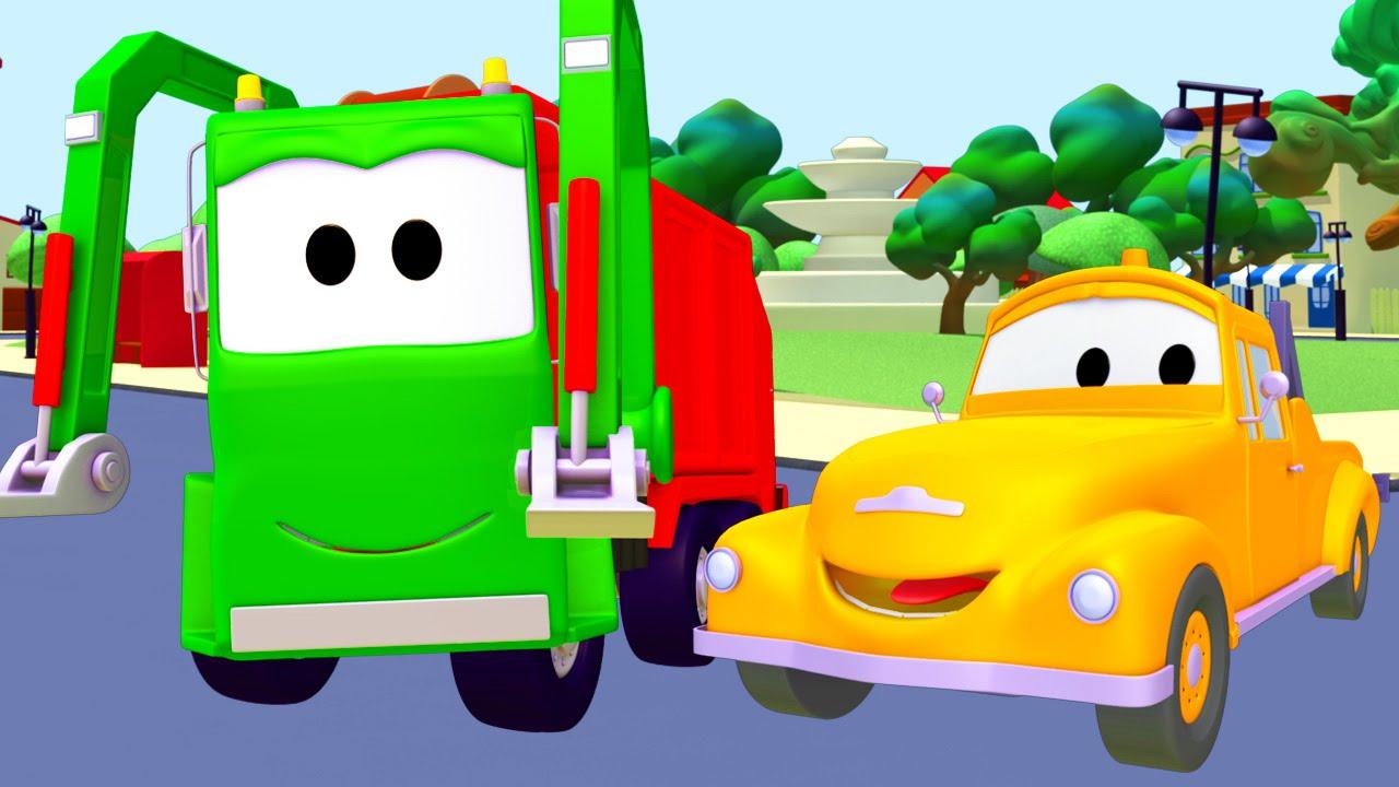 Tom La Dépanneuse Et Le Camion Poubelle À Car City destiné Dessin Animé Camion Grue