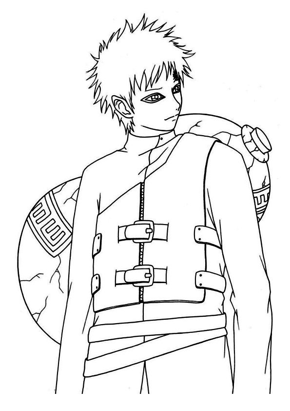 Top 25 Naruto Coloring Pages For Your Little Ones serapportantà Naruto Shipp?Den Coloriage