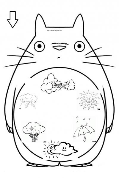 Totoro - Activites Manuelles Pour Petits Et Grands encequiconcerne Coloriage Totoro A Imprimer