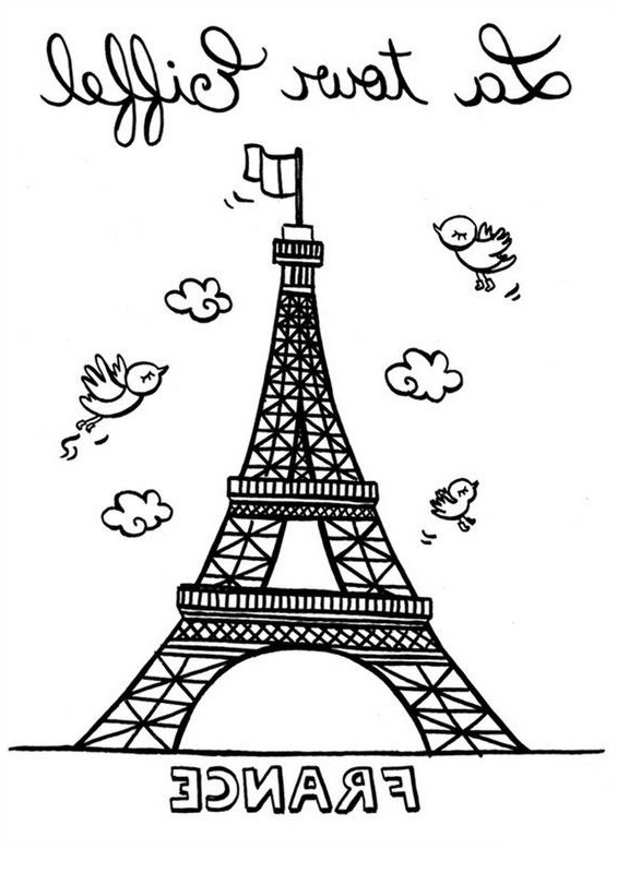 Tour Eiffel Coloriage Cool Photos Tour Eiffel A dedans Tour Eiffel À Imprimer
