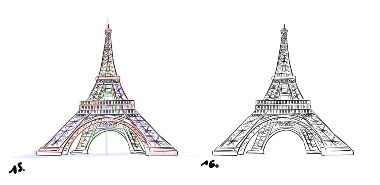 Tour Eiffel Dessin | Besttravels tout Tour Effel Dessin