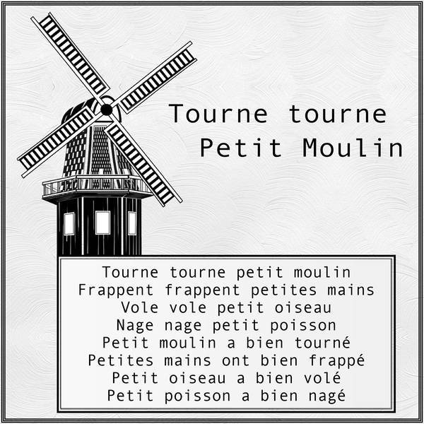 Tourne Tourne Petit Moulin - Album De Pages De Scrap pour Tourne Tourne Petit Moulin