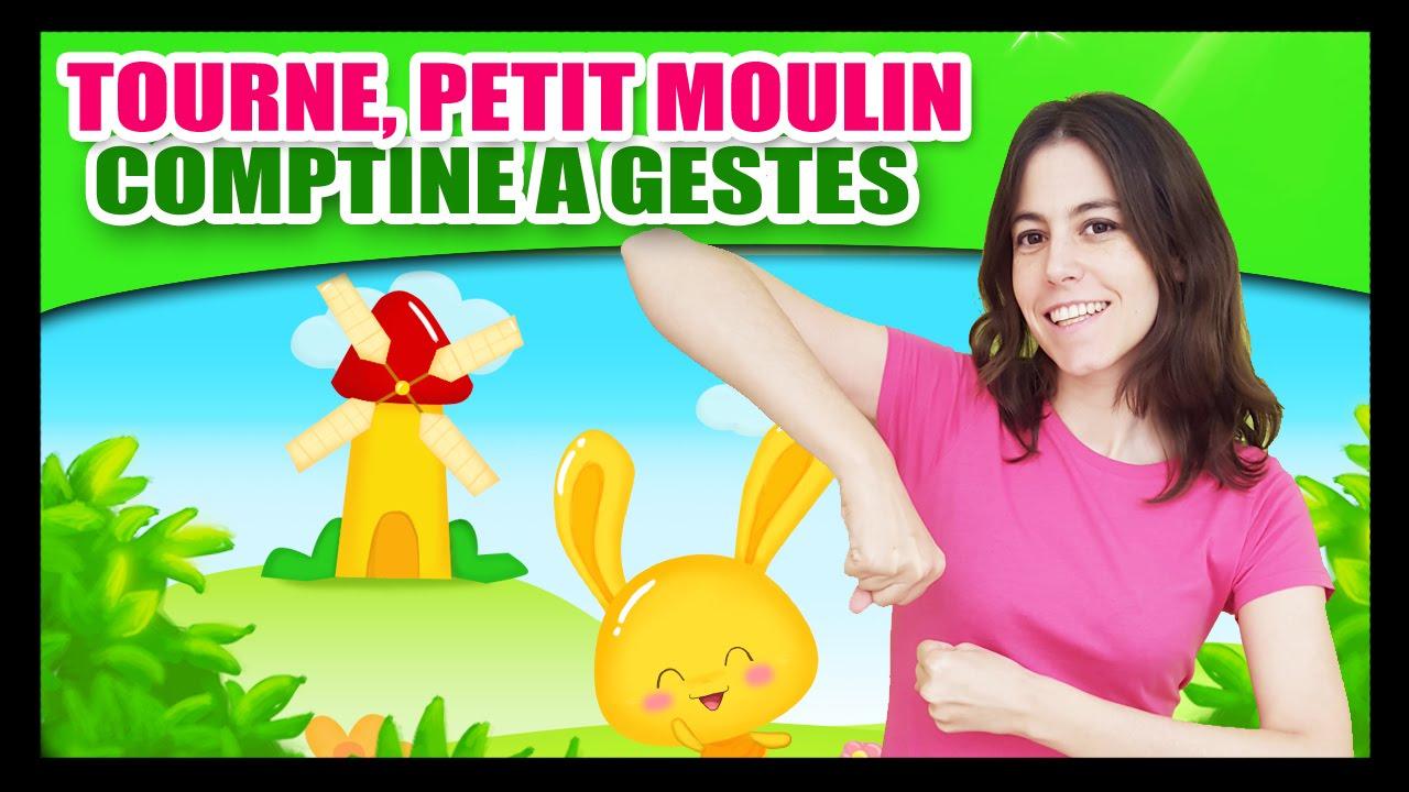 Tourne, Tourne, Petit Moulin - Comptines À Gestes Pour tout Les Chansons Pour Les Petit Gratuit
