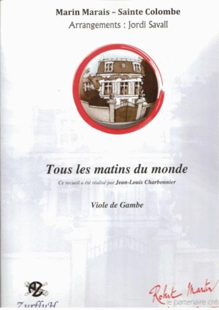 Tous Les Matins Du Monde Sheet Music By Marin Marais à Tous Les Coloriages Du Monde