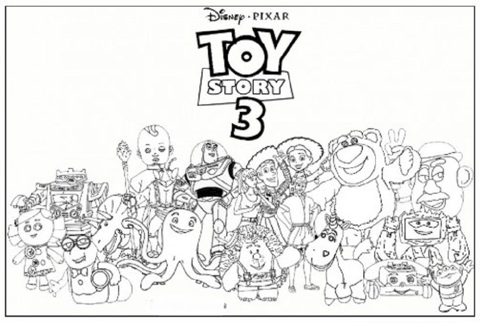 Toy Story 3 Coloring Pages Online | Toy Story Coloring pour Dessin Toy Story 3