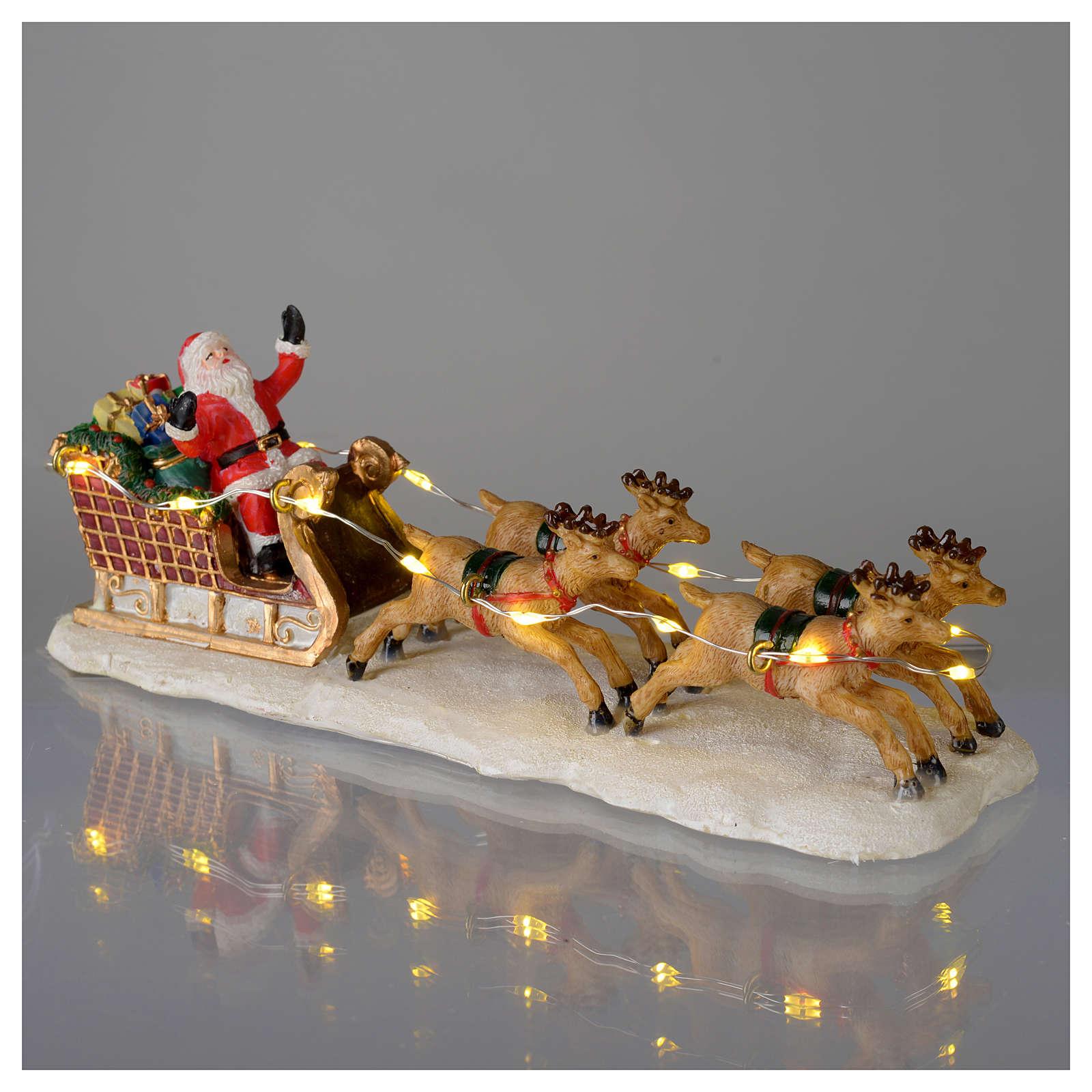 Traîneau De Père Noël Pour Village 15X5X5 Cm | Vente En intérieur Traineaux Du Pere Noel