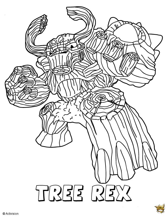 Tree Rex Est Un Coloriage De Skylanders à Coloriage Skylanders À Imprimer