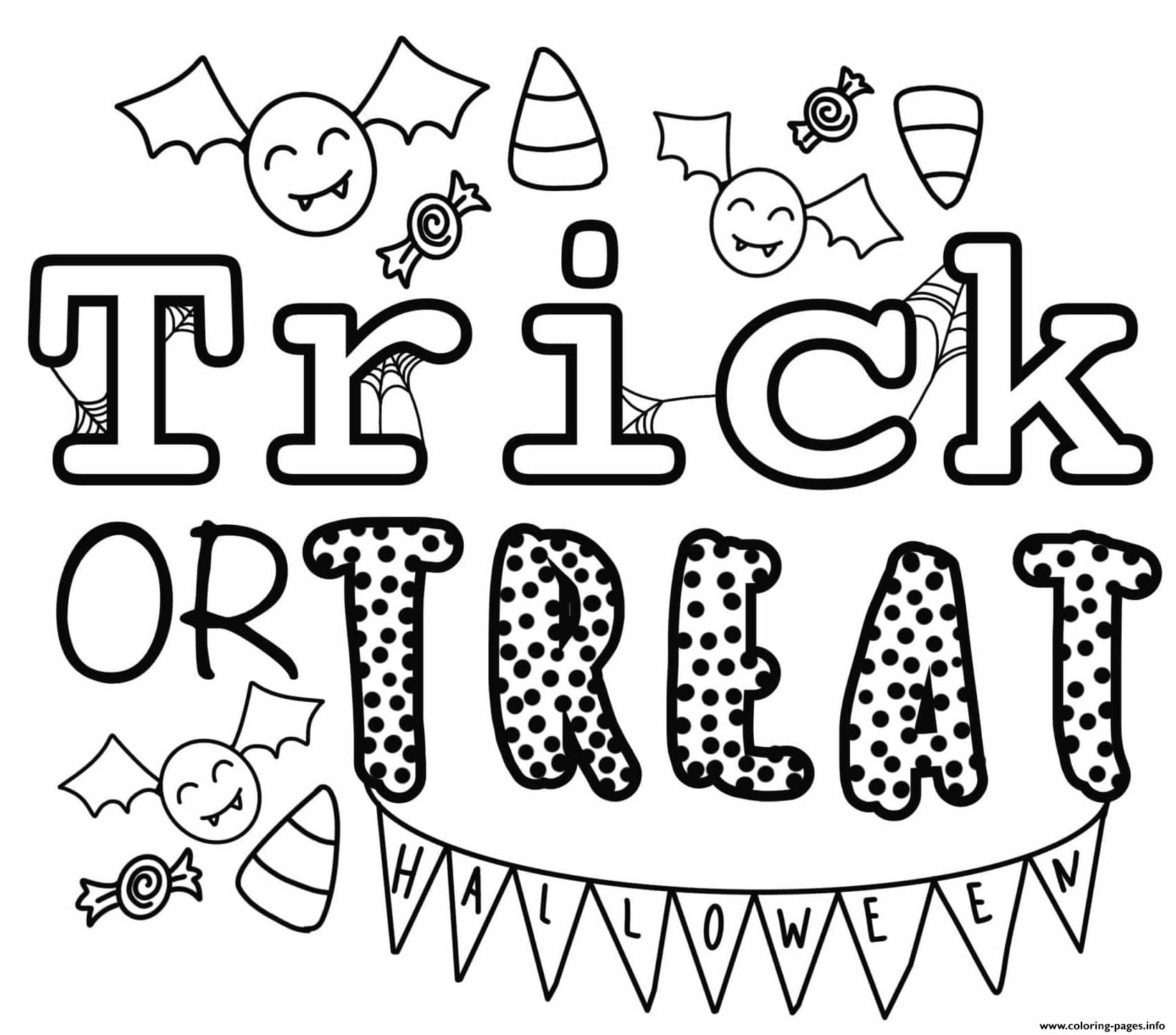 Trick Or Treat Halloween By Heather Hinson Coloring Pages destiné Trick Or Treat Coloring Book: Trick Or