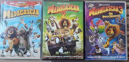 Trilogia Madagascar 1 + 2 + 3 03 Dvds - R$ 60,40 Em intérieur Madagascar 2 Argue 1/2