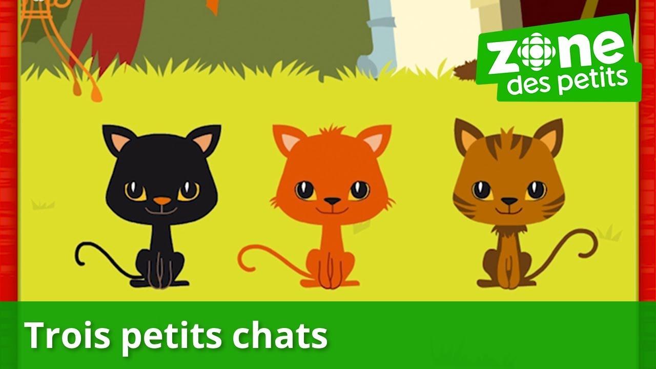 Trois Petits Chats (Avec Paroles) - Comptine Pour Enfants destiné Contine 3 Petit Chat Paroles