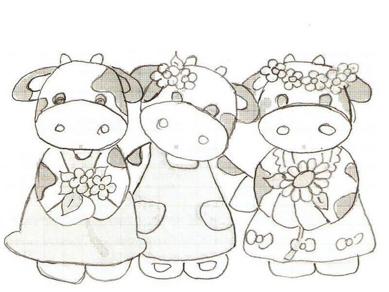 Trop Mignonnes,Les Vachettes | Dessin, Coloriage Et Dessin concernant Coloriage D Animaux De Vache