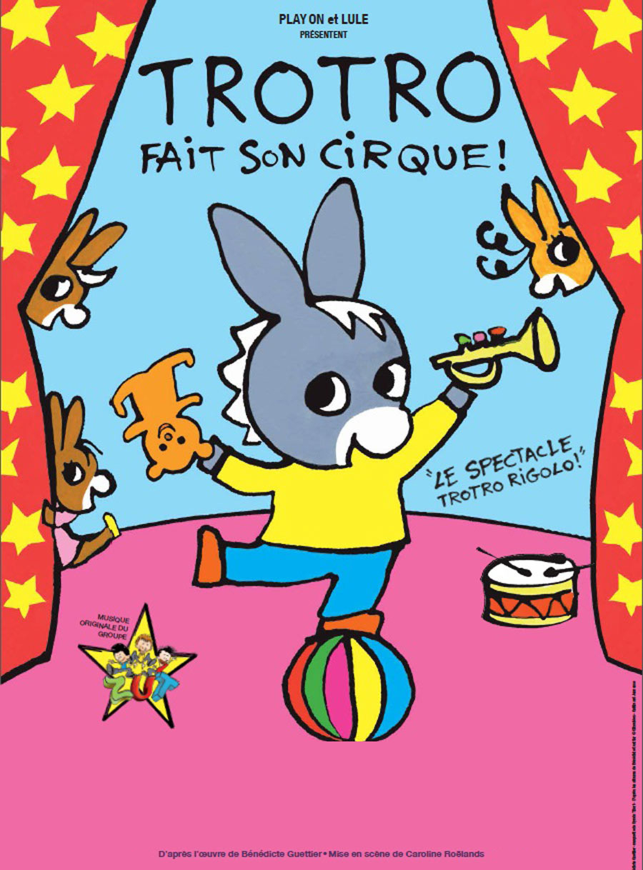Trotro Fait Son Cirque - Récréatiloups Côtes D'Armor dedans Trotro Dessins Animes