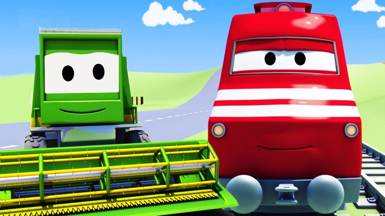 Troy Le Train Et La Moissonneuse Batteuse À Car City à Dessin Animé Train Thomas