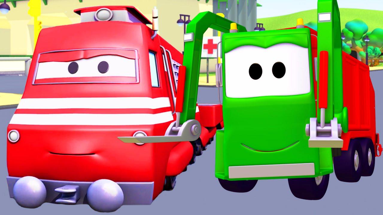 Troy Le Train Et Le Camion Poubelle À Car City | Dessin concernant Dessin Animé Train Thomas