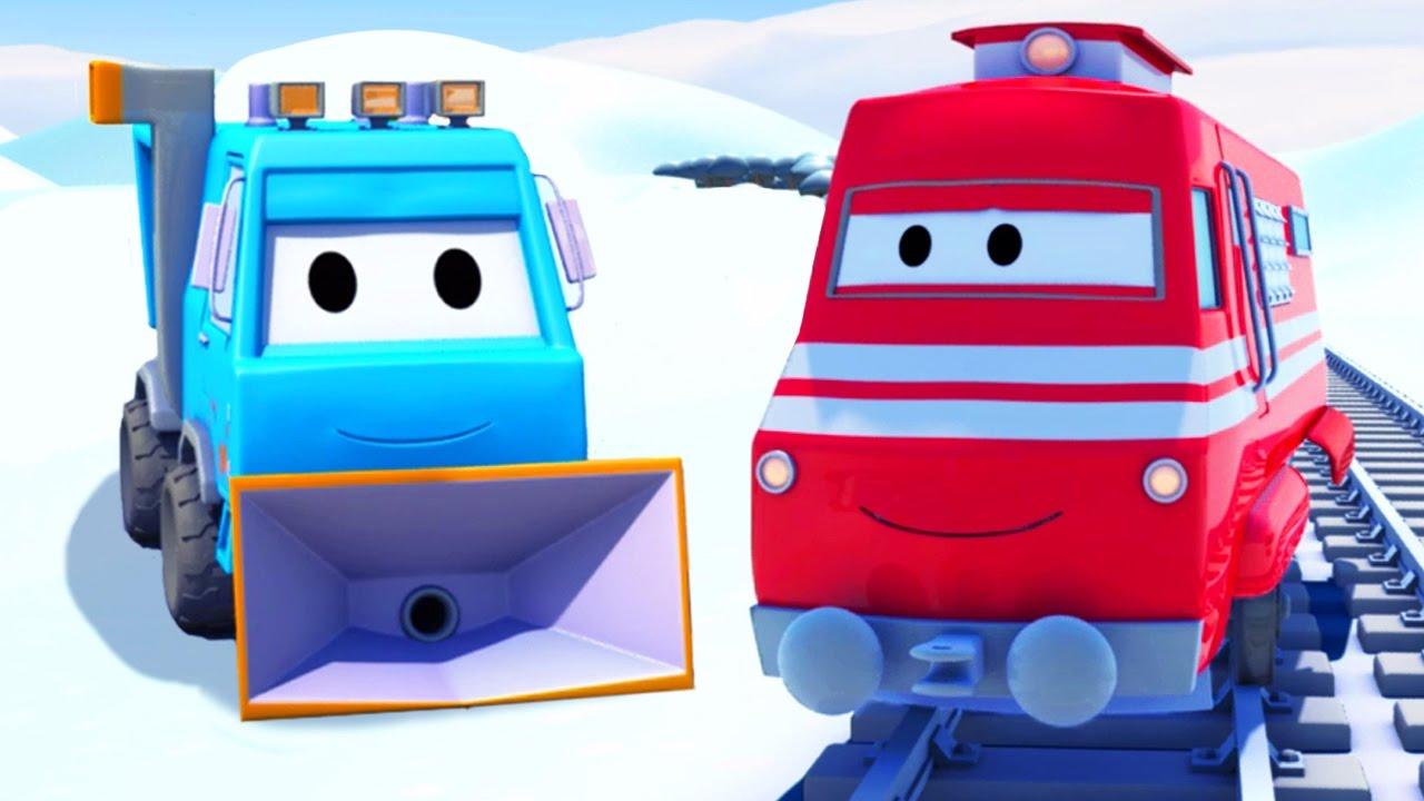 Troy Le Train Et Le Chasse Neige À Car City | Dessin avec Dessin Animé Train Thomas
