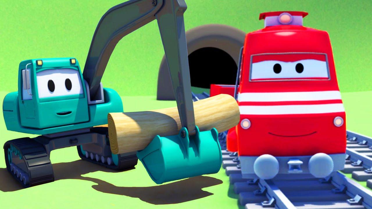 Troy Le Train Et Le Tractopelle À Car City | Dessin Animés encequiconcerne Dessin Animé Train Thomas