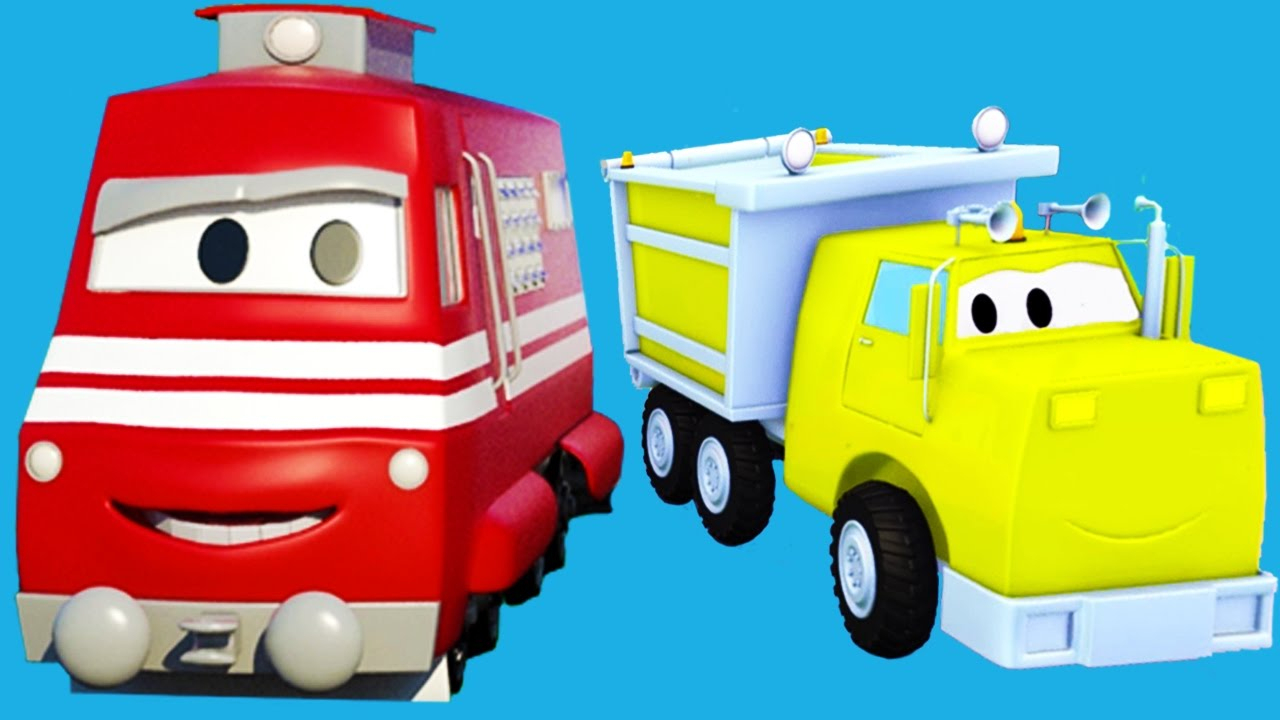 Troy Le Train Et Ses Amis De Car City! Le Camion Benne, La destiné Dessin Animé Camion Grue