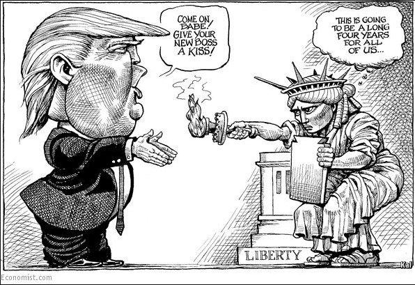 Trump Et La Statue De La Liberté (Dessin Kal, The concernant Statue De La Liberté Dessin