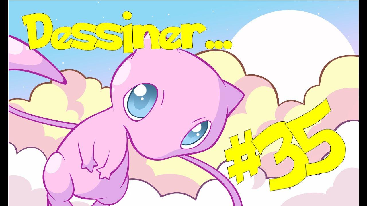 Tuto #35 : Dessiner Mew! - serapportantà Dessiner Des Pokémon