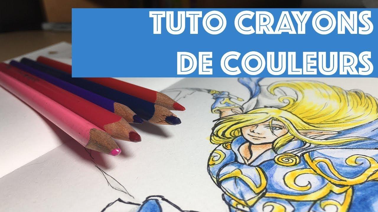 Tuto//Comment Bien Colorier Aux Crayons De Couleurs avec Crayon De Coloriage