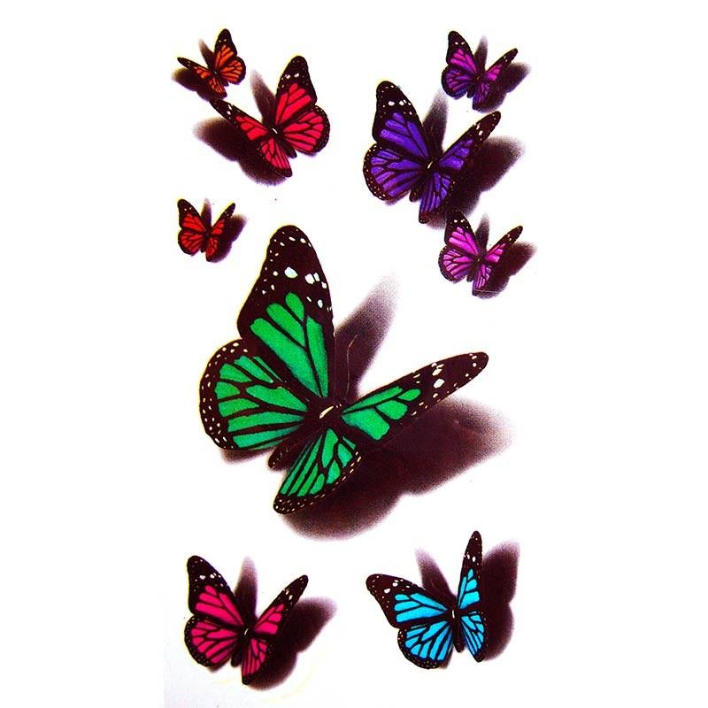 Uage Papillon, Uage Ephemere Papillon, Faux avec Dessin De Papillon En Couleur