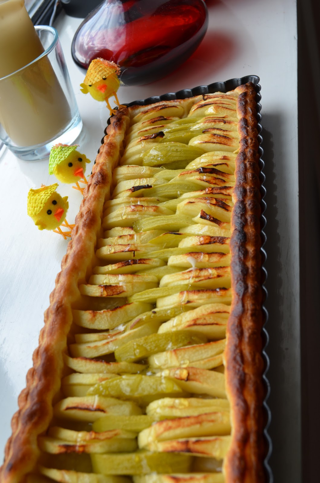 U&Me In The Kitchen: Tarte Pomme&Kiwi - Kiwi&Apple Tart tout Tarte Pomme Banane Kiwi