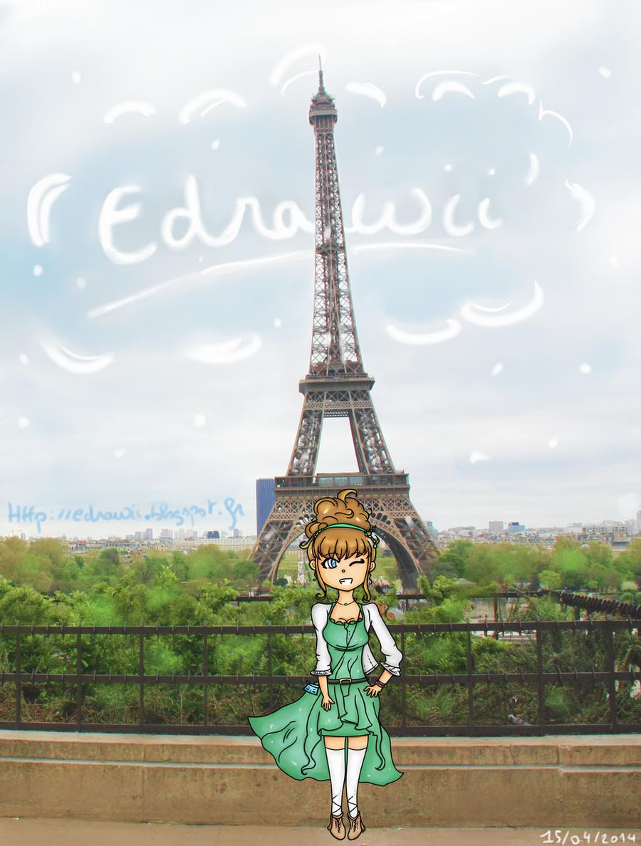 Un Blog, Des Dessins : Edrawii: Paris : Tour Eiffel concernant Tour Effel Dessin