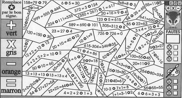 Un Coloriage Magique Pour Apprendre En S'Amusant Les intérieur Coloriage Avec Calcul