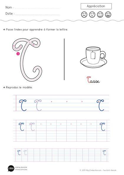 Un Contenu Captivant Sur Apprendre À Écrire La Lettre T pour T Majuscule Cursive