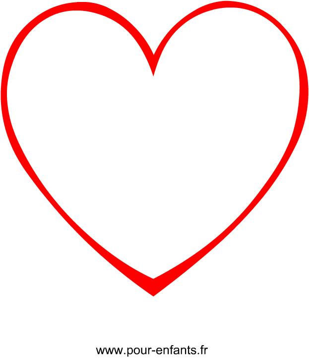 Un Dessin De Coeur À Imprimer. Avec Ce Modèle En Forme De pour Coloriage À Imprimer De Coeur