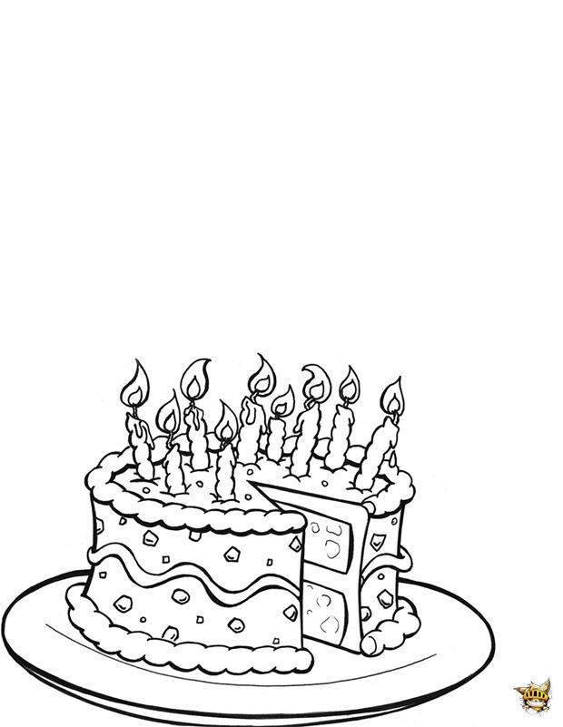 Un Gâteau D'Anniversaire À Colorier Et À Imprimer encequiconcerne Gateau Anniversaire À Colorier