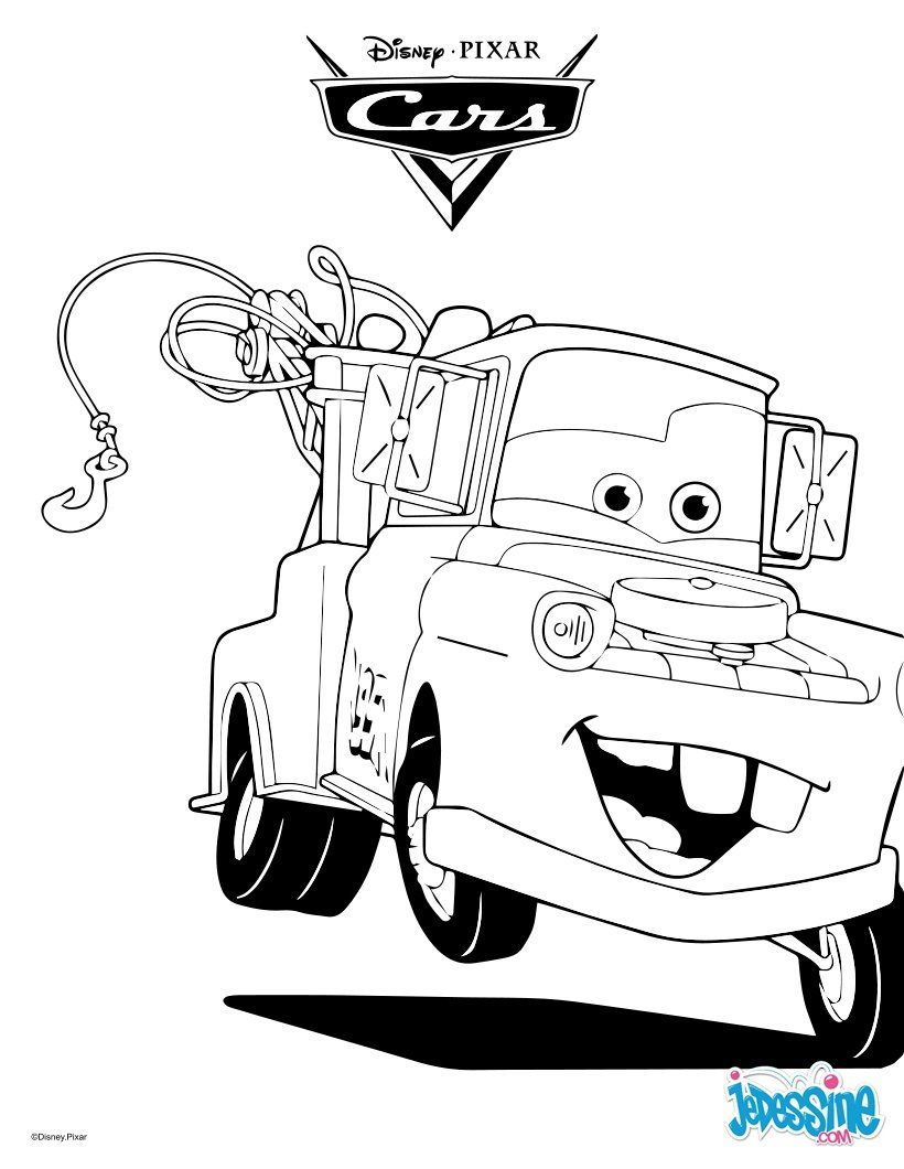 Un Joli Coloriage Sur Cars Avec Martin La Dépanneuse. Un dedans Dessin A Colorier Cars