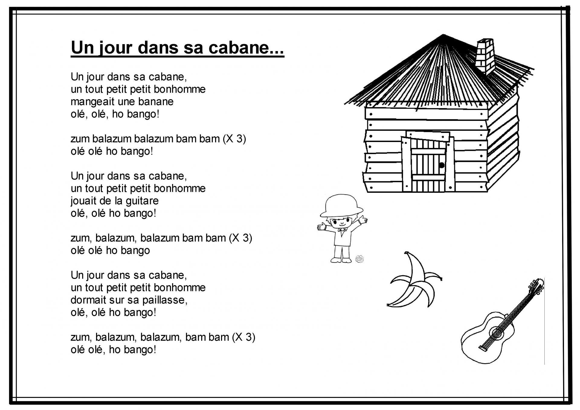 Un Jour Dans Sa Cabane concernant Comptine Du Soir